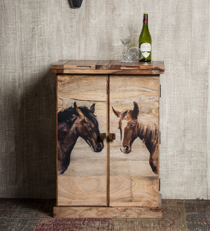 Mane Bar Cabinet in Natural Finish by Bohemiana