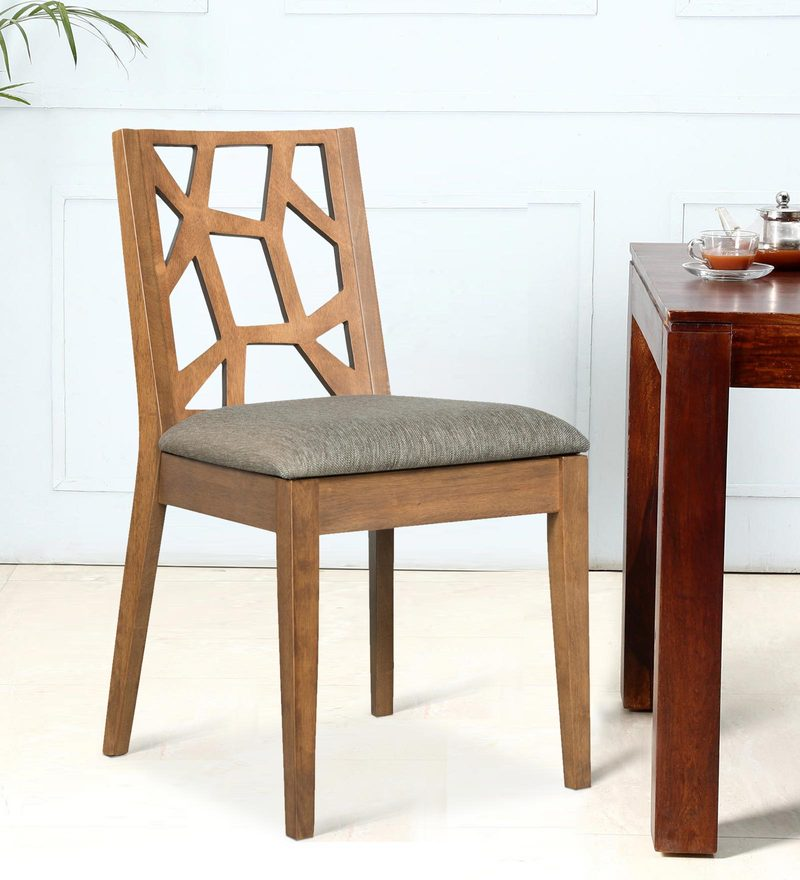 Manuel Dining Chair (Set of 2) in Cocoa and Hazel Colour by CasaCraft