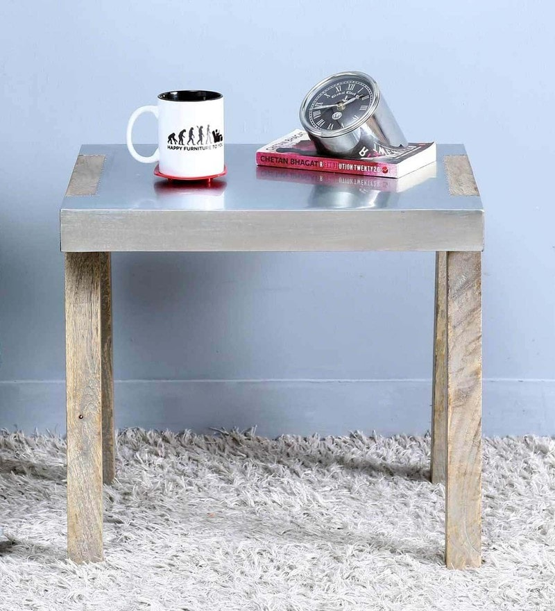 Marcel End Table in Silver Color by Bohemiana