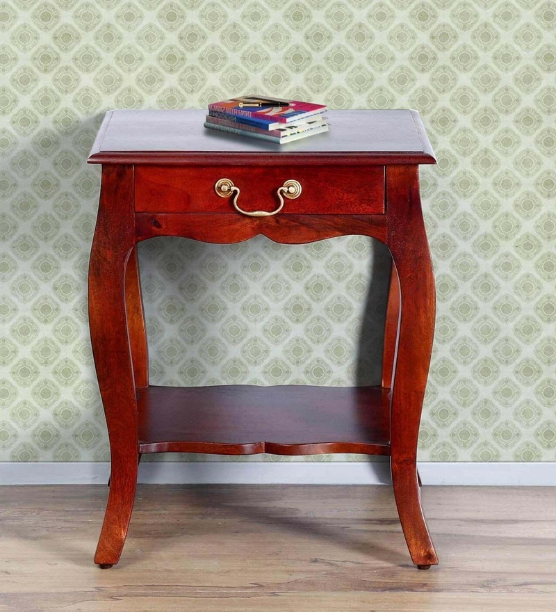 Margaret End Table in Honey Oak Finish by Amberville