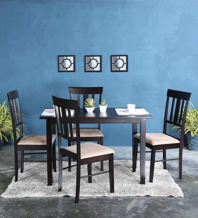 Mariko Four Seater Dining Set in Wenge Finish by Mintwud