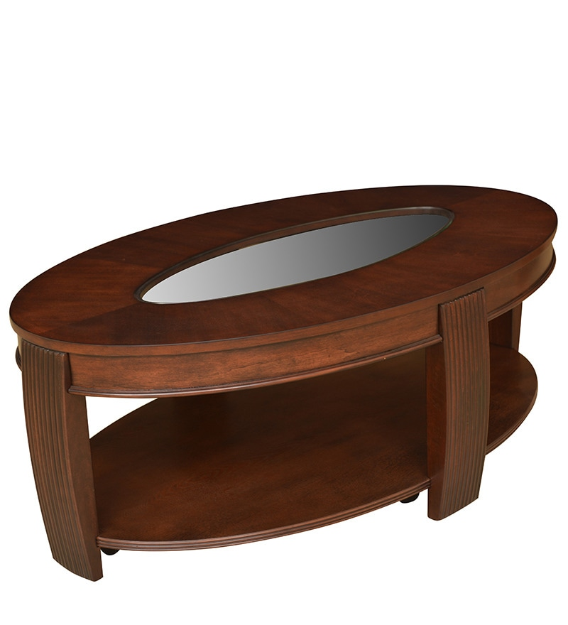 Buy marion veener center table in cherry colour by for Html table center