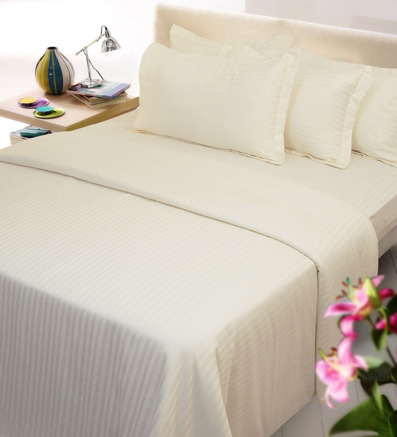 Ivory Solids Cotton Single Size Duvet Covers - 1 Pc by Mark Home