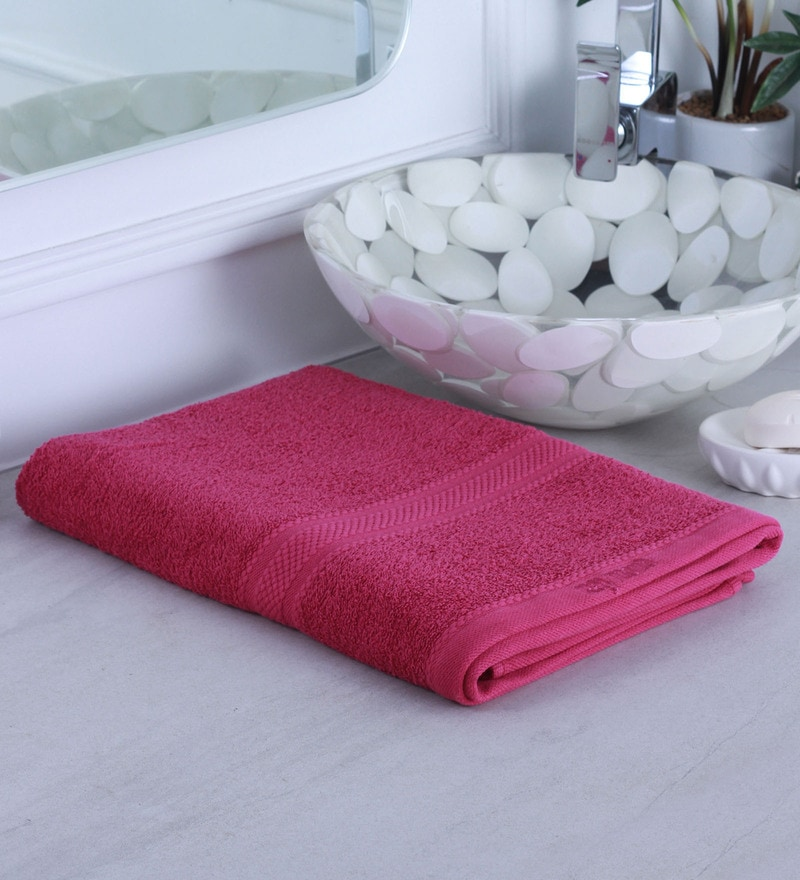 Pink 100% Cotton Bath Towel by Raymond Home