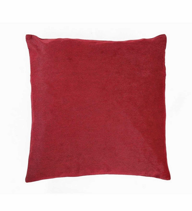Maroon Velvet 16 x 16 Inch Cushion Cover by Skipper