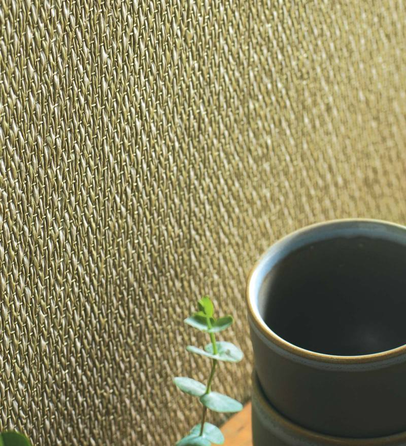 Beige & Green Paper Backing Wallpaper by Marshalls WallCoverings