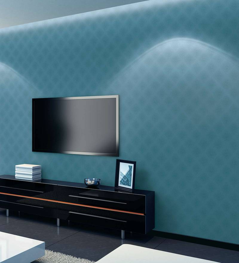 Blue & Green Paper Backing Wallpaper by Marshalls WallCoverings