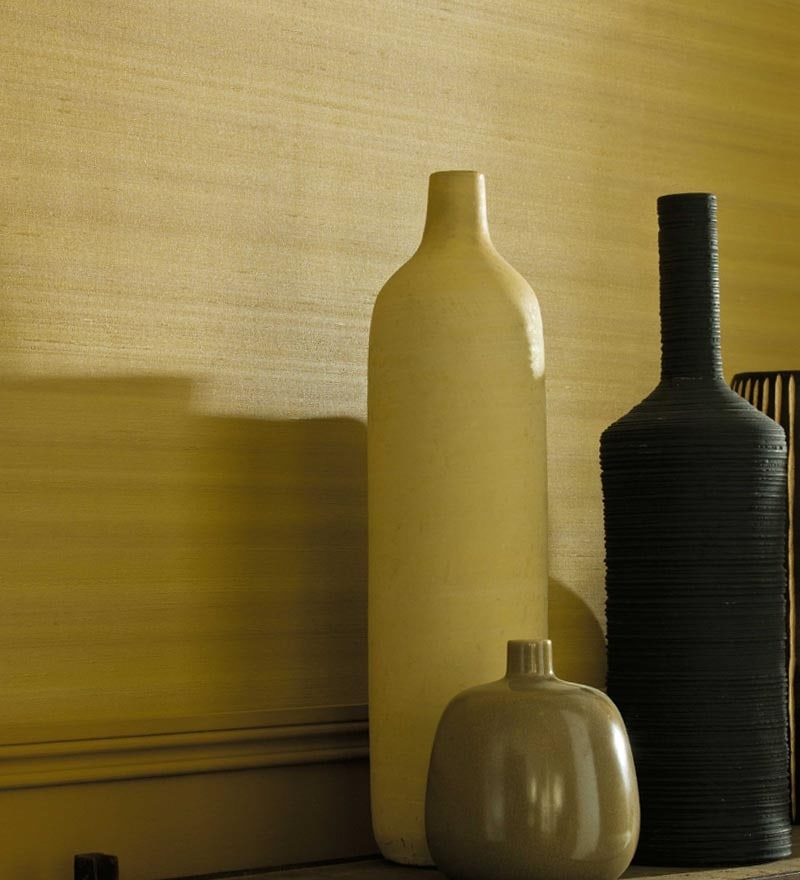 Beige Non Woven Fabric Solid Wallpaper by Marshalls WallCoverings