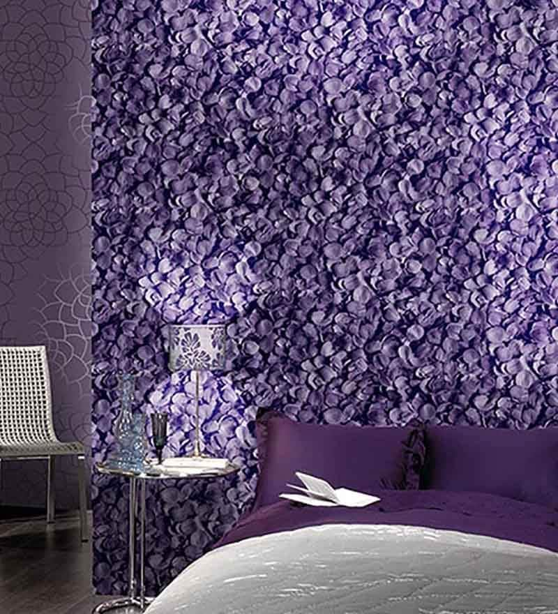 Violet Paper Wallpaper by Marshalls WallCoverings