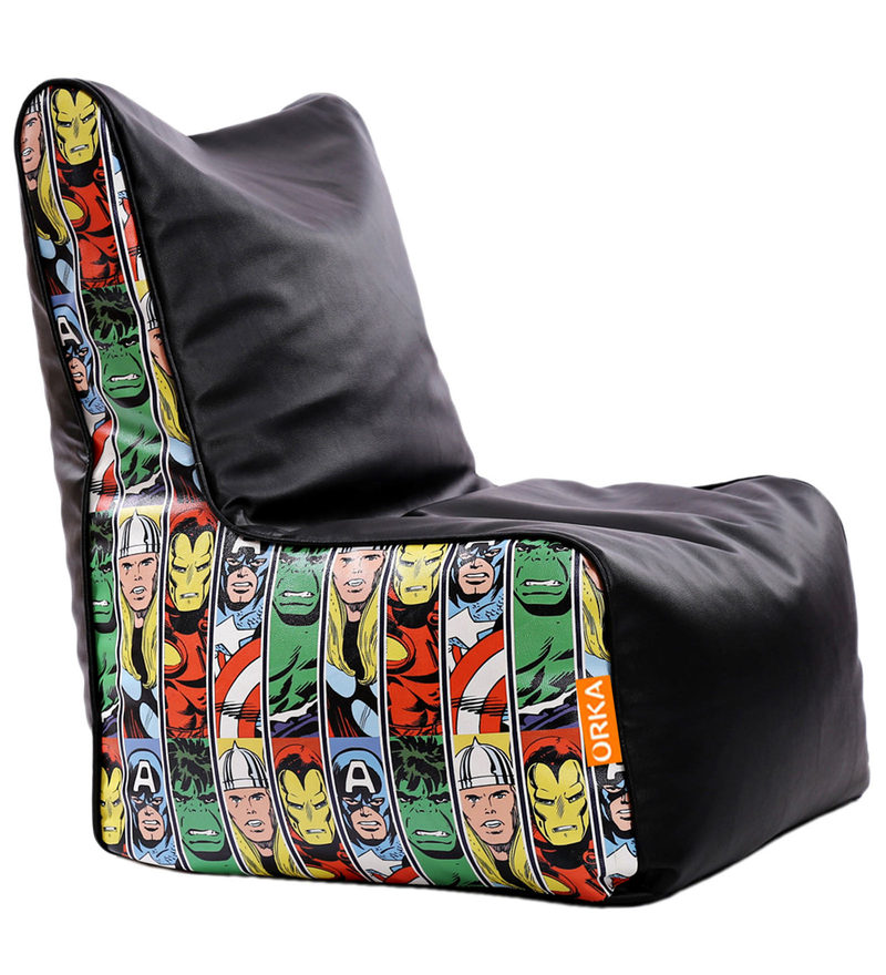 Marvel Avengers Kids Bean Bag Cover in Multicolour by Orka