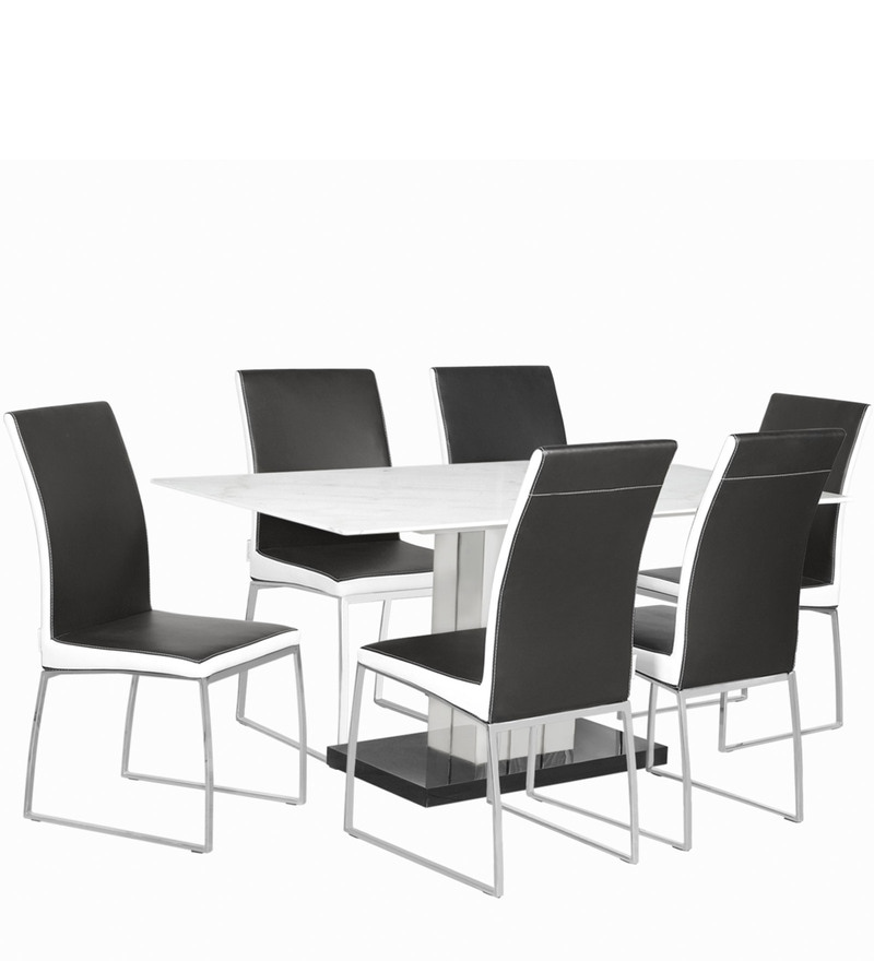 Buy Marvel Six Seater Dining Table in White Colour by  : marvel six seater dining table in white colour by godrej interio marvel six seater dining table in w yirk7g from www.pepperfry.com size 800 x 880 jpeg 37kB