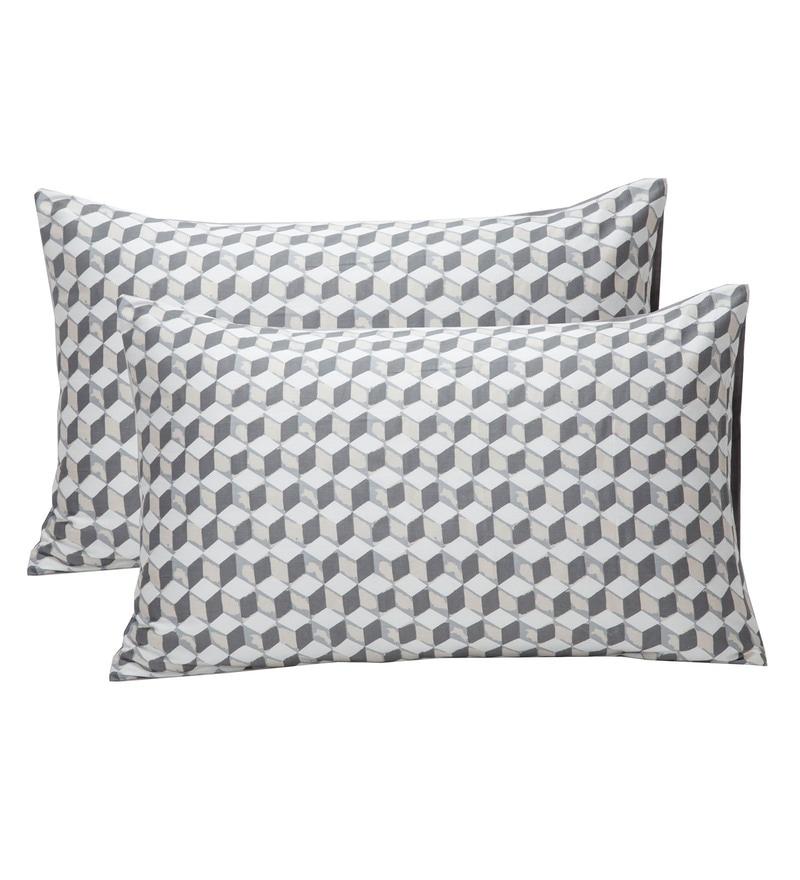Maspar Natural 100% Cotton 20 x 30 Inch Clarissa Mirage Large Pillow Case - Set of 2