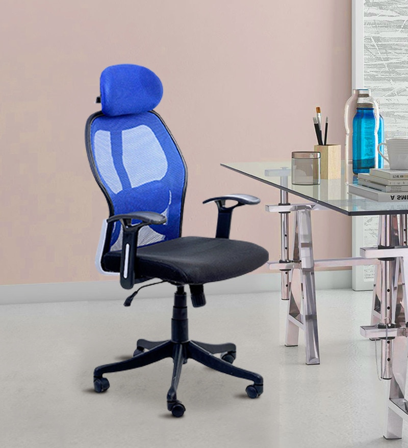Matrix High Back Executive Chair in Blue Colour by Emperor