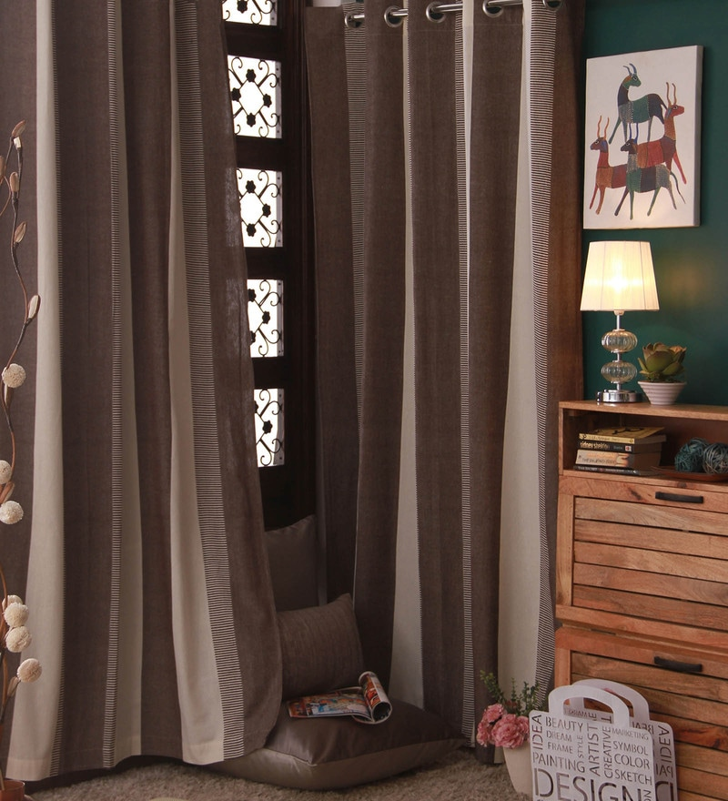 Multicolour Cotton Curtain by Marigold