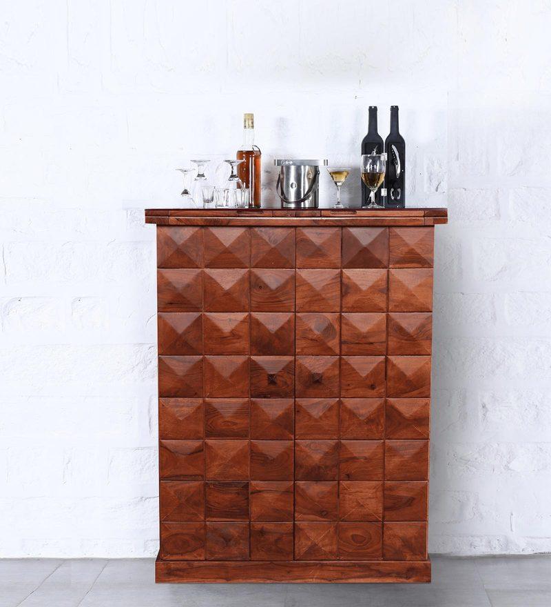 Mayville Small Bar Cabinet in Honey Oak Finish by Woodsworth