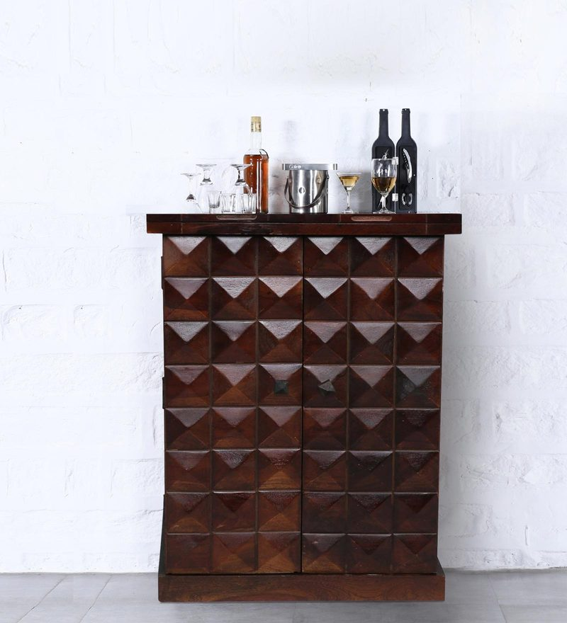 Mayville Small Bar Cabinet in Provincial Teak Finish by Woodsworth