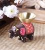 Maatti Multicolour Terracotta Elephant Tea Light Holder