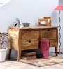 Macpherson Console Table in Natural Sheesham Finish by Amberville