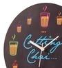 Mad(e) In India Multicolor MDF 11 x 11 Inch Cutting Chai Wall Clock