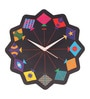Multicolor MDF 11 x 11 Inch Kite Wall Clock by Mad(e) in India
