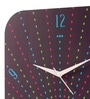 Purple MDF 11 x 11 Inch Geometric Peacock Wall Clock by Mad(e) in India