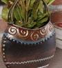 Malik Design Brown Metal Flower Small Vase