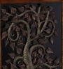Brown Metal Framed Tree Wall Hanging by Malik Design