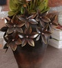 Malik Design Brown Metal Flower Small Pot
