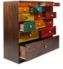 Manomay Chest Of Drawers in Multicolor by Furnicheer