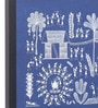 Blue Canvas Shubh Mangal Wedding Framed Warli Painting by Manomay Kreations