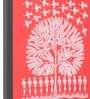 Red Canvas Wishing Tree Framed Warli Painting by Manomay Kreations