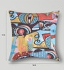 Multicolor Duppioni 16 x 16 Inch Abstract Cushion Cover by Mapa Home Care