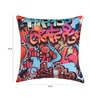 Mapa Home Care Multicolor Duppioni 16 x 16 Inch Arty Graffiti Cushion Cover