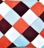 Multicolor Duppioni 16 x 16 Inch Checkered Cushion Cover by Mapa Home Care