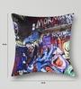 Mapa Home Care Multicolor Duppioni 16 x 16 Inch Graphic Cushion Cover
