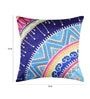 Multicolor Duppioni 16 x 16 Inch Printed Cushion Cover by Mapa Home Care