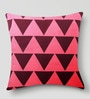Purple & Pink Duppioni 16 x 16 Inch Geometric Printed Cushion Cover by Mapa Home Care