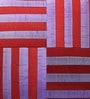 Mapa Home Care Purple & Red Duppioni 16 x 16 Inch Woven Stripes Cushion Cover