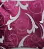 Mapa Home Care Purple Duppioni 16 x 16 Inch Filigree Cushion Cover