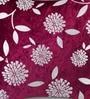 Mapa Home Care Purple Duppioni 16 x 16 Inch Floral Cushion Cover