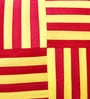 Mapa Home Care Red & Yellow Duppioni 16 x 16 Inch Woven Stripes Cushion Cover