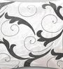 Mapa Home Care White Duppioni 16 x 16 Inch Filigree Cushion Cover