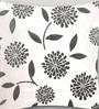 Mapa Home Care White Duppioni 16 x 16 Inch Floral Cushion Cover