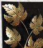 Ethnic Clock Makers Multicolour Metal Maple Leaf Wall Art