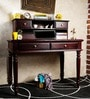 Bernal Study & Laptop Table in Passion Mahogany Finish by Amberville