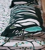 Mark Home Trees Green Cotton Abstract Bed Sheet (with Pillow Covers) - Set of 3