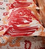 Mark Home Contemporary Orange & Red Cotton Abstract Bed Sheet (with Pillow Covers) - Set of 3