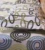Mark Home Vortex Multicolour Cotton Abstract Bed Sheet (with Pillow Covers) - Set of 3