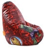 Marvel Avengers Kids Bean Bag with Beans in Multicolour by Orka(With Small - cushion Inside)