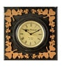 Black & Beige MDF 12 x 2 x 12 Inch Square Shaped Wall Clock by Marwar Stores